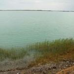 Знаменитое полупресноводное озеро Балхаш, расположенное на территории Казахстана