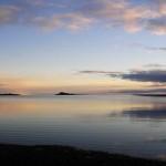 Таймыр - самое крупное заполярное озеро. Фотография, сделанная на рассвете