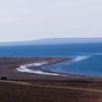 Соленое озеро Убсу-Нур, расположенное на территории России и Монголии