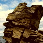 Шайтан-камень на озере Иткуль в Челябинской области