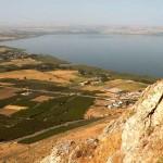 Вид на Тивериадское озеро с окрестных холмов