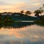 Закат на озере Киву - одном из красивейших озер Африки