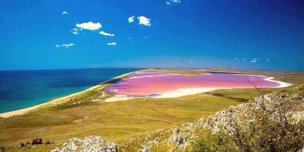Красивейший вид на Кояшское озеро в Крыму