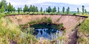 Карстовое озеро Акташский Провал
