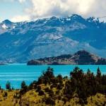 Озеро Буэнос-Айрес (Хенераль-Каррера) на границе Чили и Аргентины